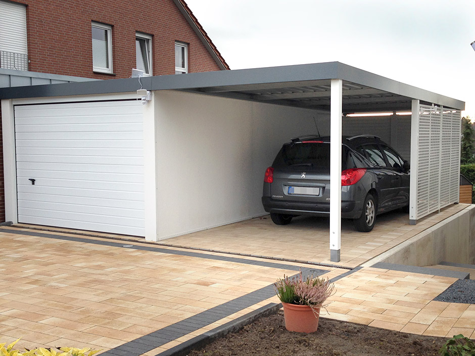 Garage/Carport-Kombination (CG1501001104) - CARCEFFO - Moderne ...